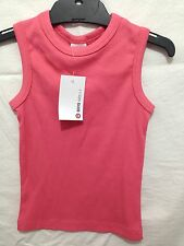BNWT Boy's Sz 2 Target Brand Soft Stretch Coral Ribbed Singlet/Tank Top