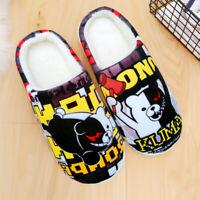 Anime Danganronpa monokuma Winter Warm Soft Plush Antiskid Indoor Home Slippers