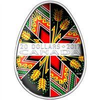 Ukrainian Pysanka Easter Egg 1oz Proof Silver Coin 2017 $20 Canada