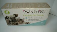 "Premium 4"" Elevated Dog and Cat Pet Feeder (Small- 4"" Tall)"