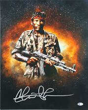 Charlie Sheen Platoon Authentic Signed 16X20 Photo Autographed BAS Witnessed
