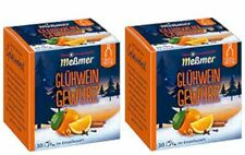 Glühwein DOUBLE PACK, German Mulled Wine Spice Mix: 2 Boxes: 20 Sachets MESSMER