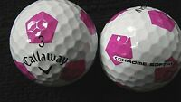 """10 CALLAWAY  """"CHROME SOFT"""" - with """"PINK TRUVIS"""" - Golf Balls - """"PEARL/A"""" Grades."""