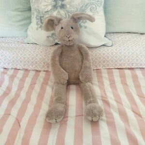 "Rare Jellycat Slackajack Bunny Rabbit Hare Beige Soft Toy - Retired 19"" Long"