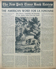 FABLES OF LA FONTAINE MARIANNE MOORE BAPTISTE FOWLIE May 16 1954 NY Times Book