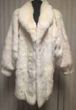 Vintage Wilsons Leather Fur Coat Womens M Medium Rabbit Fur Jacket