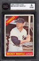 1966 TOPPS OPC O PEE CHEE Baseball #50 MICKEY MANTLE KSA 6 EX-NM N Y YANKEES