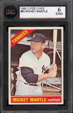 1966 TOPPS OPC O PEE CHEE Baseball #50 MICKEY MANTLE KSA 6 EX-NM N Y YANKEES