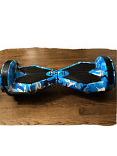 New listing Blue Camo Electric Bluetooth Hoverboard with bag and charger.