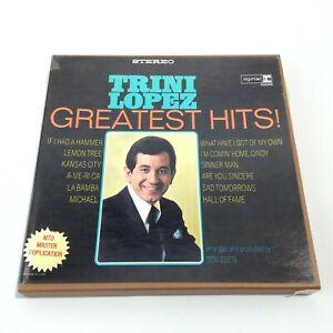 TRINI LOPEZ GREATEST HITS 4 TRACK 7 1/2 IPS REEL TO REEL TAPE REPRISE 6226 VG