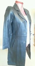STUDIO BNWT Womens BLACK Lambskin REAL LEATHER COAT Size S Chest c36ins c91cms