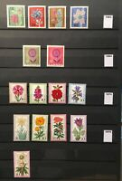 Germany Collection of 30 Years of Flower Stamps MNH