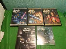 6 Star Wars Dvds.
