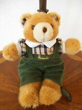 Harrods Knightsbridge Teddy Bear 10 inches green pants plaid shirt Free Shipping