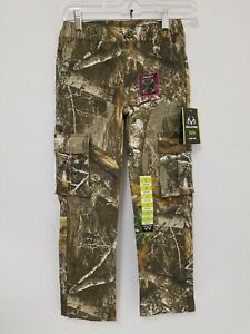 NWT Realtree Edge Youth Camouflage Flex Fabric Cargo Pants Size (M8)