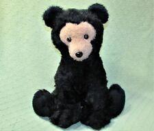 "Vintage DAKIN PILLOW PETS 16"" Black Bear BEARFOOT 1976 Plush Stuffed Animal Toy"