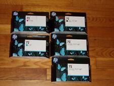 HP 72 Ink 130 ML Set Black,Cyan,Magenta,Genuine New In Box Expired