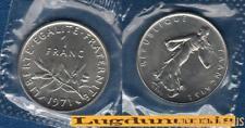 FDC - 1 Franc Semeuse 1971 FDC 12000 Exemplaires du coffret FDC