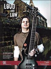 Staind Mike Mushok Signature PRS SE Baritone Guitar ad 8 x 11 advertisement