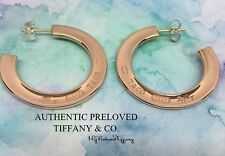 1accccdf9 Excellent Authentic Tiffany & Co. 1837 Rubedo Metal Hoop Earrings