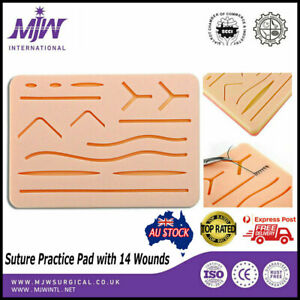 Suture Practice Pad 3 layer with 14 Wounds Silicon Skin kit Pads for Students