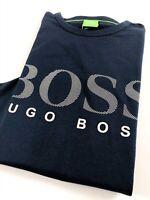 Hugo Boss Togn T Shirt Men's Long Sleeve Crew Neck Dark Blue
