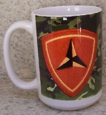 Coffee Mug Military Marine Corps 3rd Division NEW 14 ounce cup with gift box