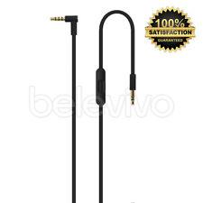 Noir remplacement cable remote mic control talk lead wire pour beats by dr dre