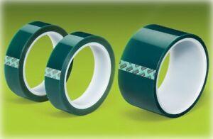 "TekLine Green Polyester Tape Powder Coating High Temp 1.5""x72yd 38mm"