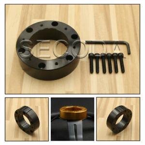 HQ! Black 25mm boss hub kit spacer fit Universal OMP aftermarket steering wheel