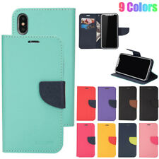 Magnetic Flip PU Leather Case Wallet Card Slot Cover For iPhone XS Max XR 8 6 7+