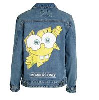 Members Only SpongeBob Denim Jacket Mens X Nickelodeon Trucker Size Small NWT