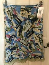 Allison Taylor postcard print skirt, size L, new with tags