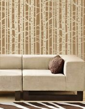 Birch Forest Wall Stencil Design - DIY Stencil Pattern for Walls & Fabrics
