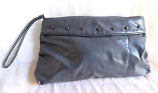 Vintage 80's Large clutch bag handbag studded Sky Train