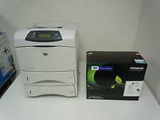 Q2428A HP LASERJET 4200DN 4200DTN PRINTER & NEW HIGH YIELD COMP Q1338A 38A TONER