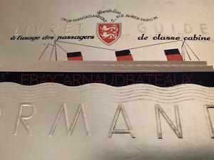 Rare Livret Accueil Passagers Paquebot Normandie