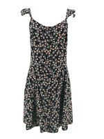 Mossimo Supply Co. Women's Black & Pink Floral Print A-Line Dress Size XS