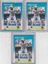 1987 Fleer #605 Bobby Bonilla  Lot of 3
