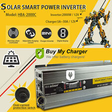 2-In-1 Solar Smart Power inverter With Battery Charger 2000W 30A DC12V to AC220V