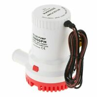 2000GPH 24V Submersible Bilge Water Pump For Marine Fishing Boat Caravan Camping
