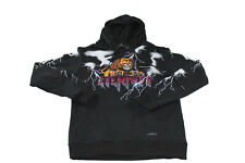 Men's Eternity BC/AD Lion Rhinestone Lightening Sweatshirt Size Medium