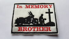 Biker Patch Rocker Mod Club In Memory Team Club Personalised Embroidered