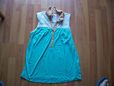 Mint Green, caramel & cream sleeveless loose fitting top from Atmosphere, Size 8