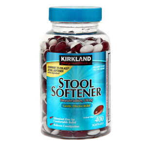 Kirkland Signature Stool Softener, Docusate Sodium 100mg - 400 Capsules