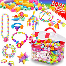 Kids Jewellery Making Kit for Girls Toys - Snap Pop Beads Pop-Bead Art