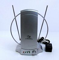 LAVA HD-468 INDOOR HDTV ANTENNA 50 MILE RANGE, HD AND 4K READY WITH POWER SUPPLY