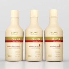 INOAR G HAIR BRAZILIAN KERATIN TREATMENT STRAIGHTENING 750ML KIT + FACE SHIELD