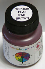 FLAT RAIL BROWN TRU-COLOR BRUSHABLE PAINT N HO S O On30 G Model Railroad TCP830