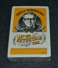 AD Vtg ORVILLE REDENBACHER Playing Cards LET ME ENTERTAIN YOU Sealed! LAST ONE!